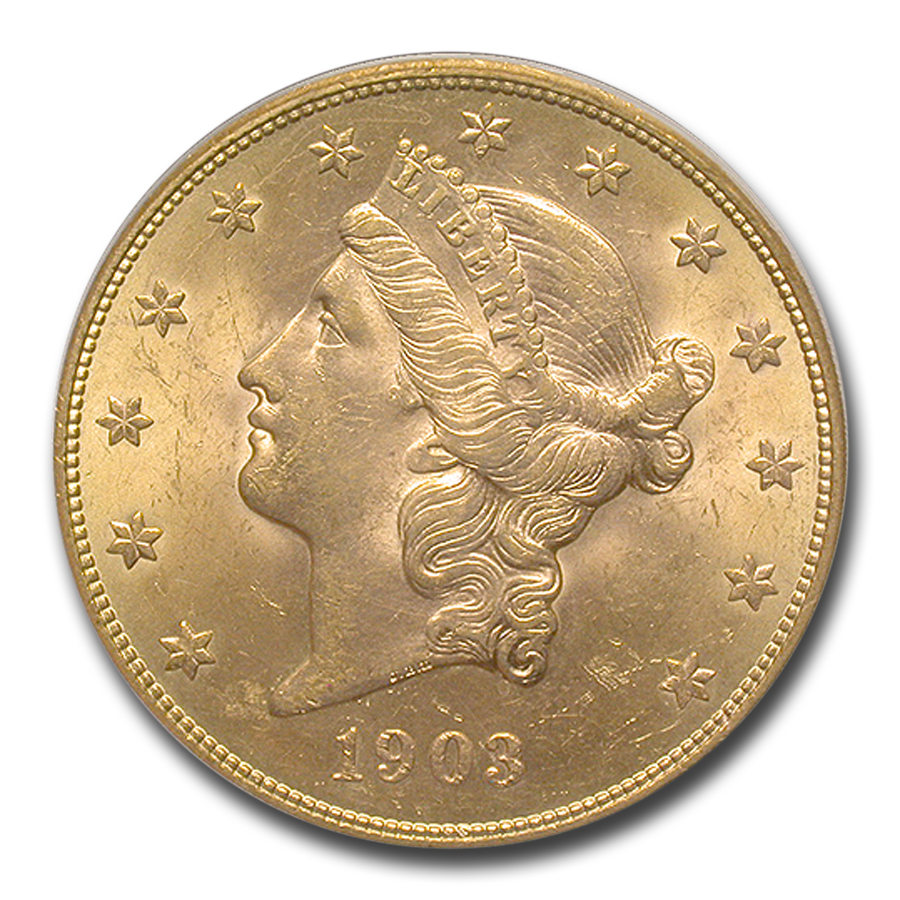 1903-S $20 Liberty Gold Double Eagle MS-63 PCGS
