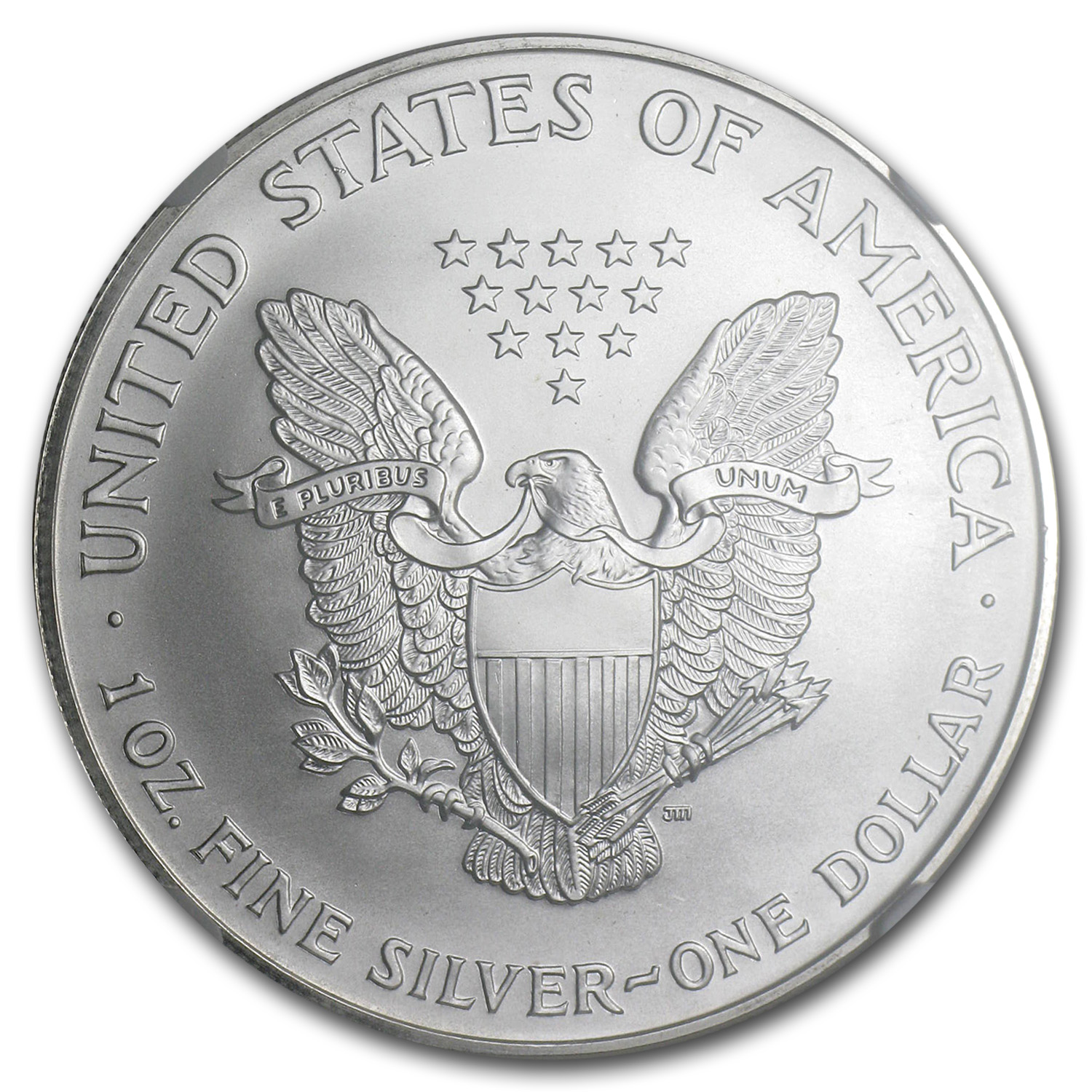2000 Silver American Eagle MS-69 NGC