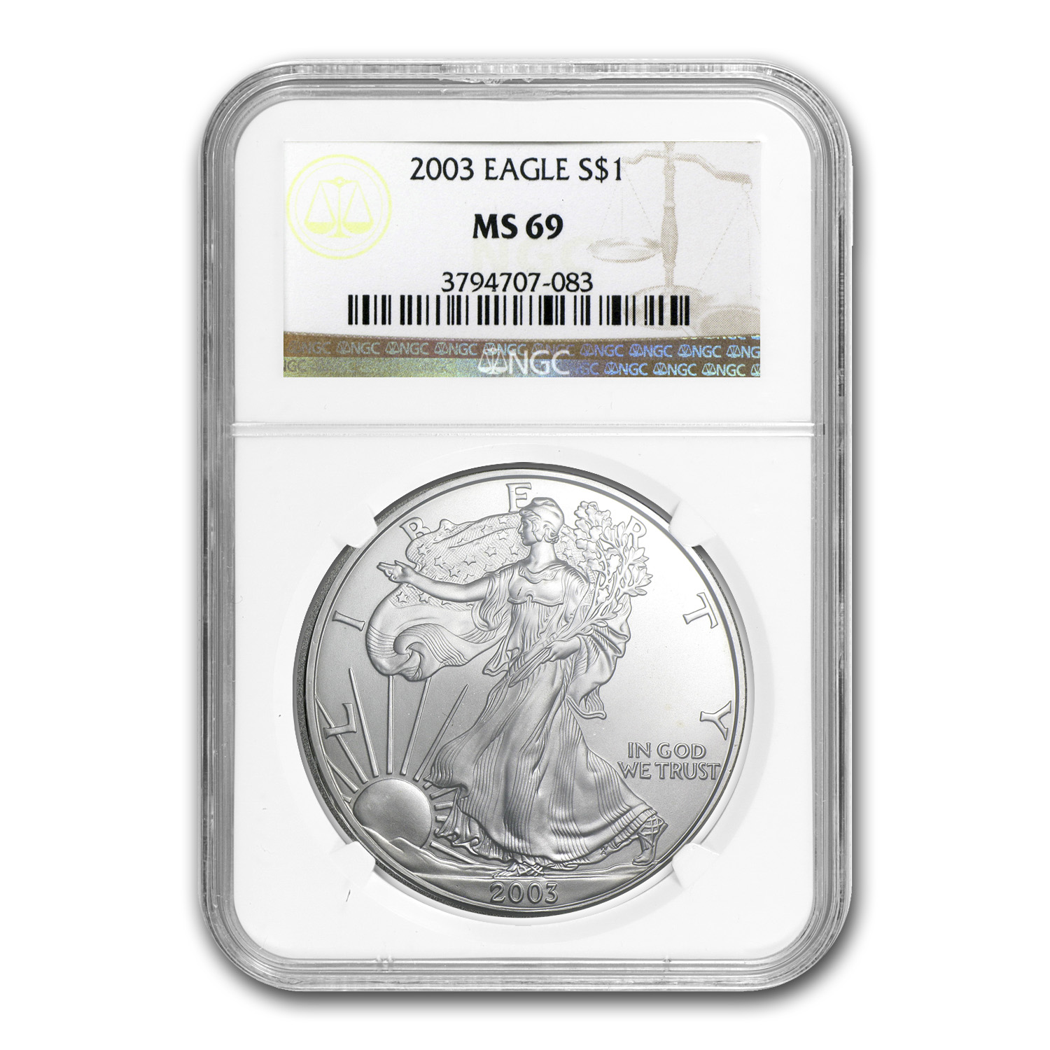 2003 Silver American Eagle MS-69 NGC