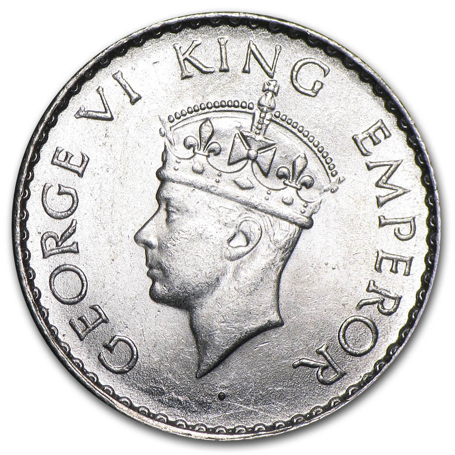 India Silver 1/4 Rupee BU George VI Random Dates