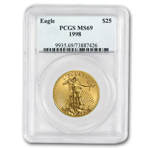 1998 1/2 oz Gold American Eagle MS-69 PCGS