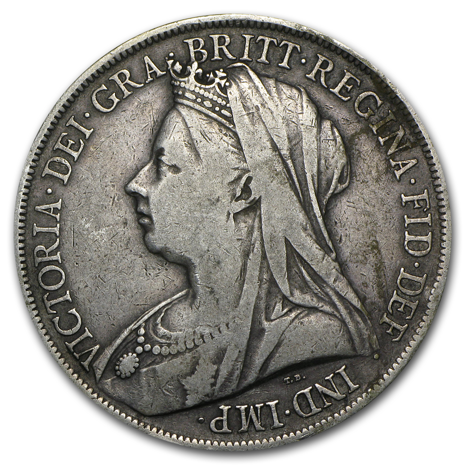 1893-1900 Great Britain Silver Crown Victoria Avg Circ