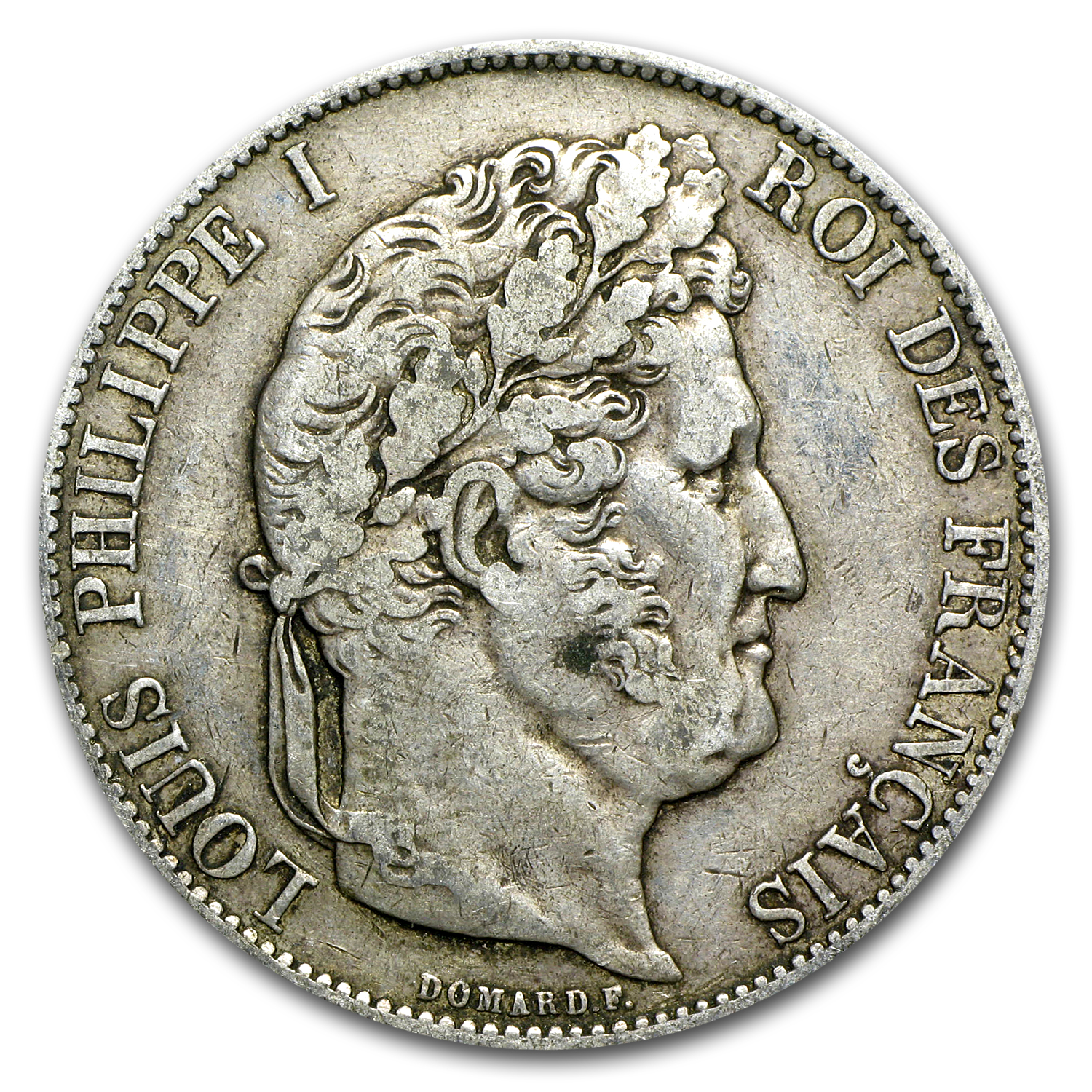 1831-1848 France Silver 5 Francs Louis Philippe I XF (Random)