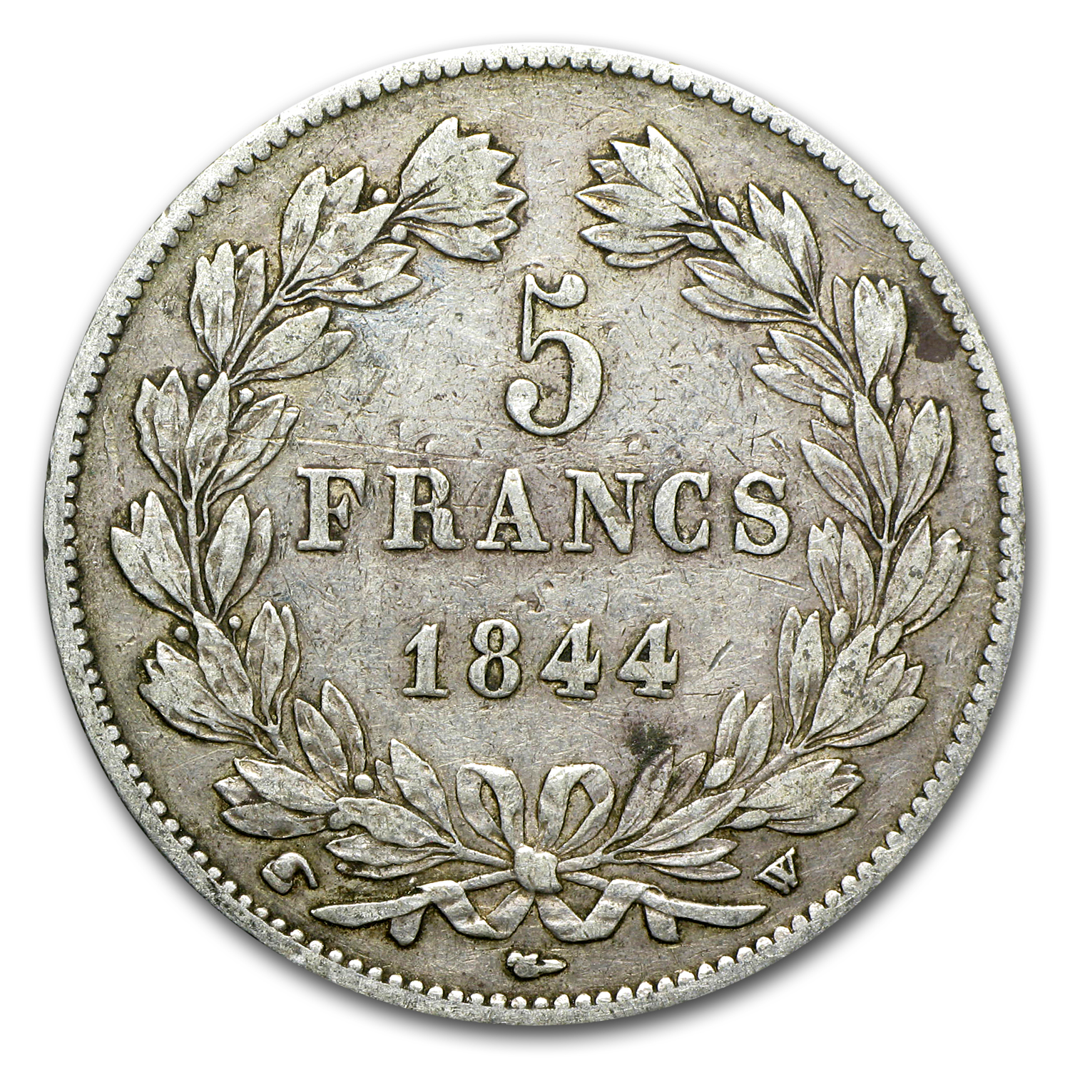 France Silver 5 Francs Louis Philippe I XF (Random Dates)