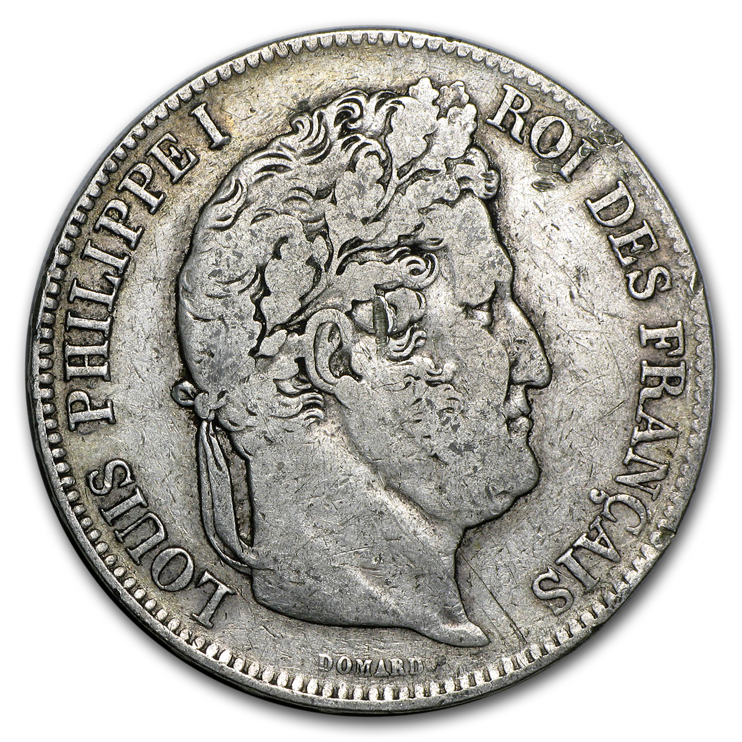 France 5 Francs Silver Louis Philippe I Avg Circ .7234 ASW