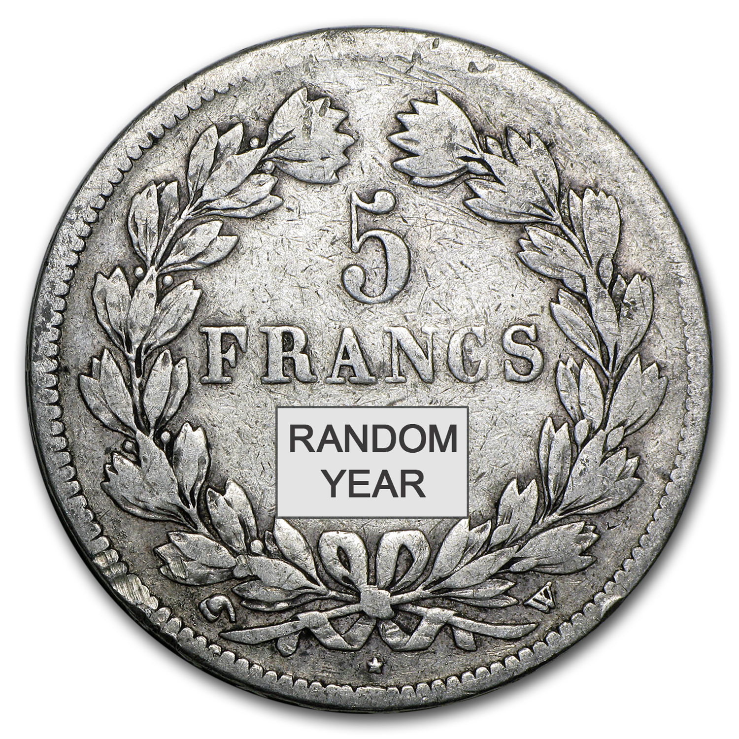 France Silver 5 Francs Louis Philippe I Avg Circ (.7234 ASW)