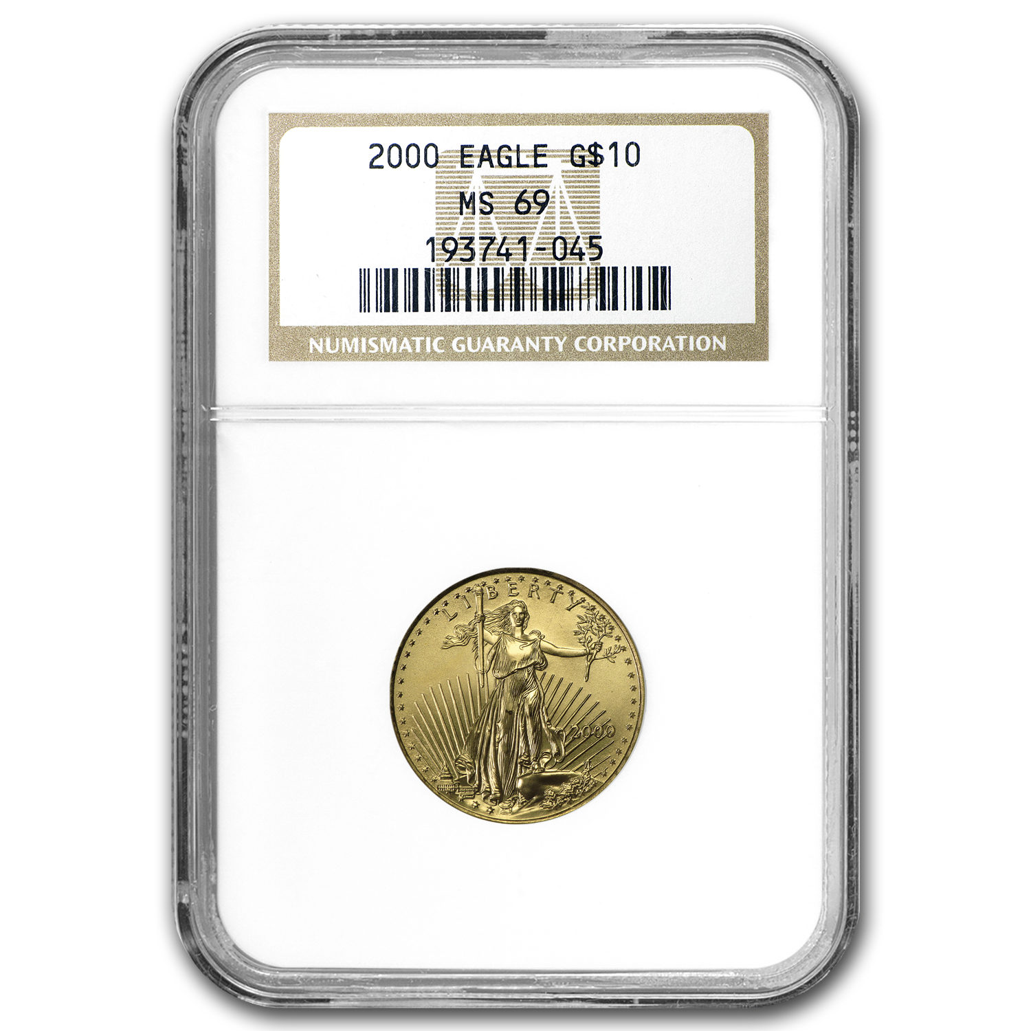 2000 1/4 oz Gold American Eagle MS-69 NGC