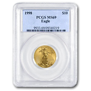 1998 1/4 oz Gold American Eagle MS-69 PCGS