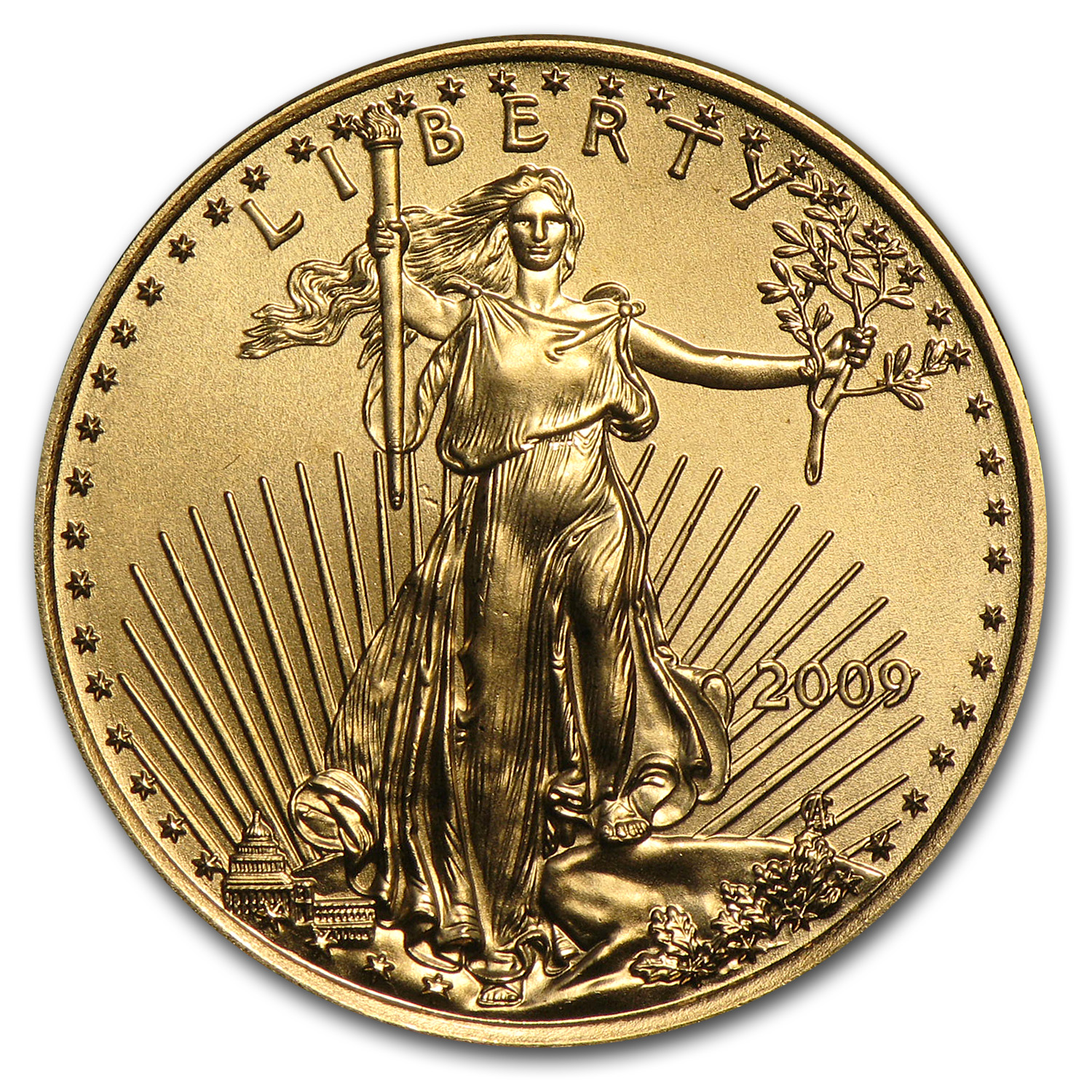 2009 1/4 oz Gold American Eagle BU
