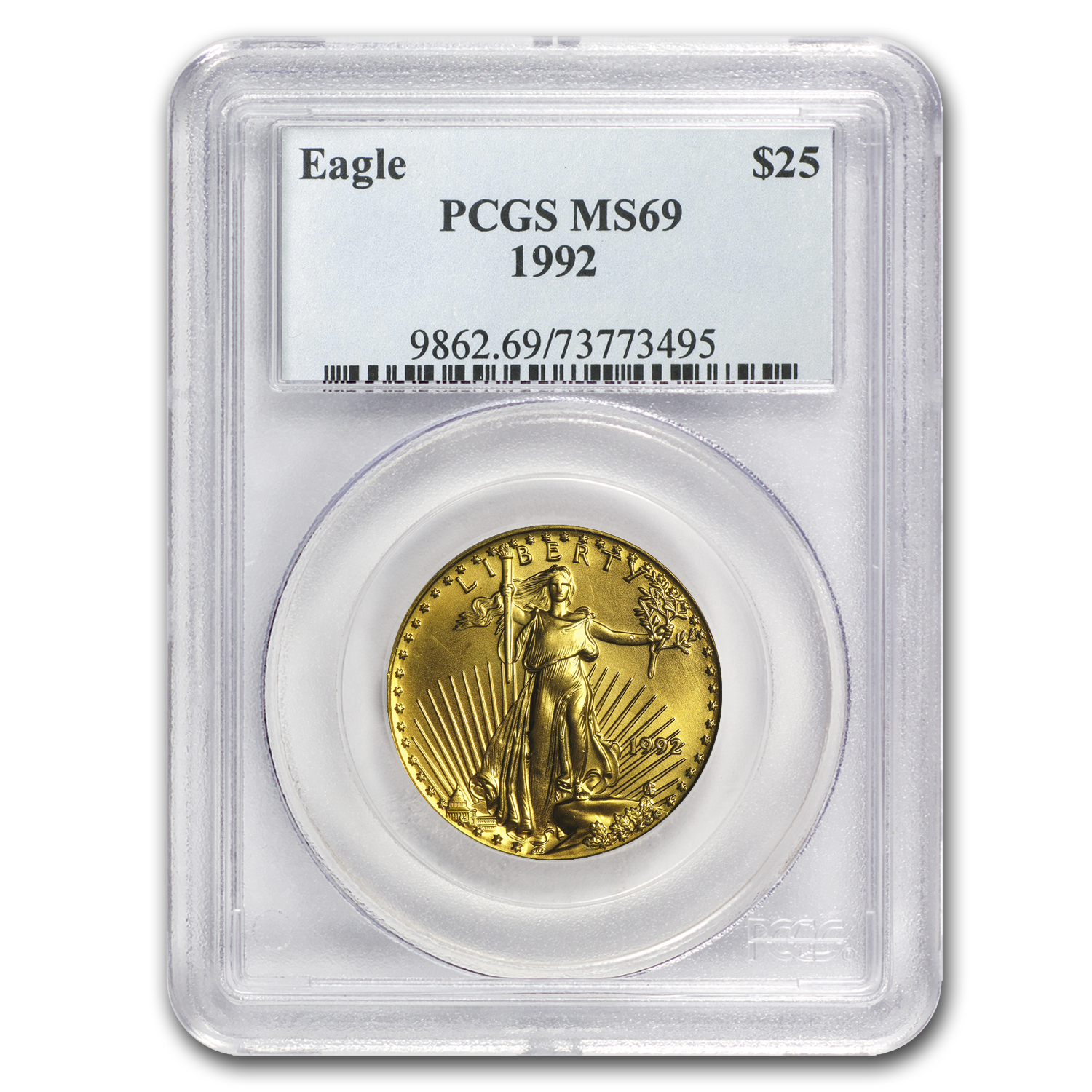 1992 1/2 oz Gold American Eagle MS-69 PCGS