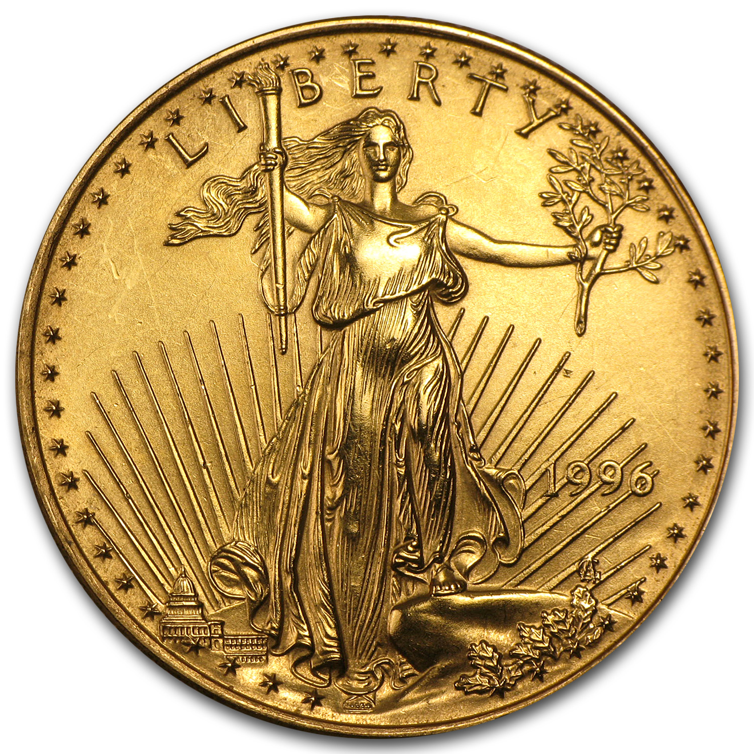 1996 1/2 oz Gold American Eagle (Abrasions)