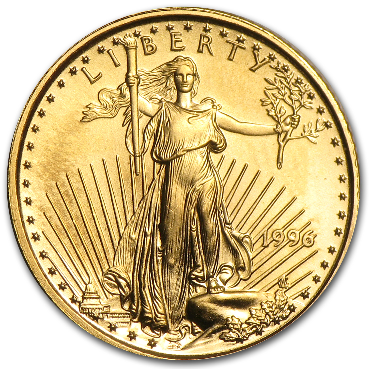 1996 1/10 oz Gold American Eagle (BU)