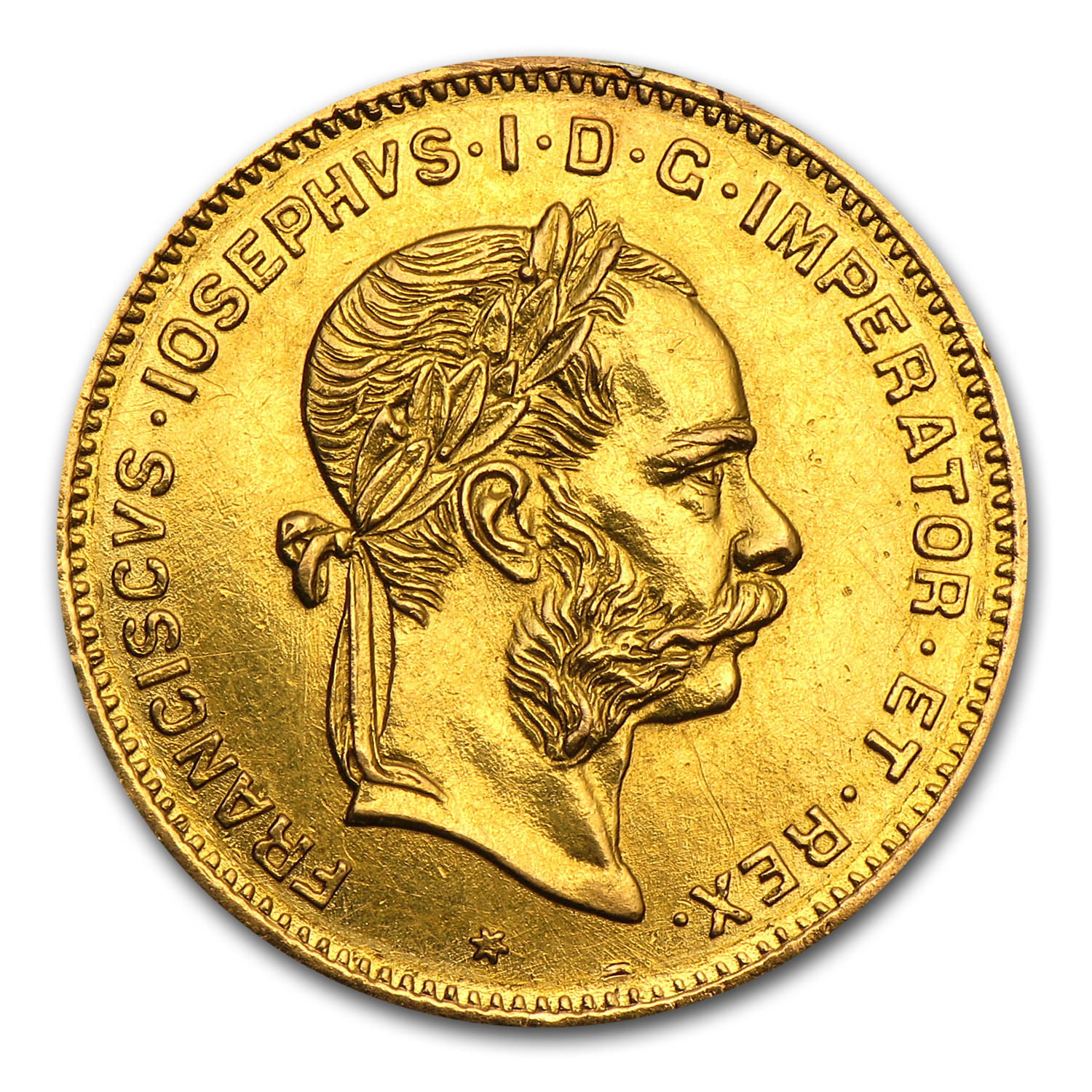 1892 Austria Gold 4 Florin/10 Francs (Jewelry Piece)