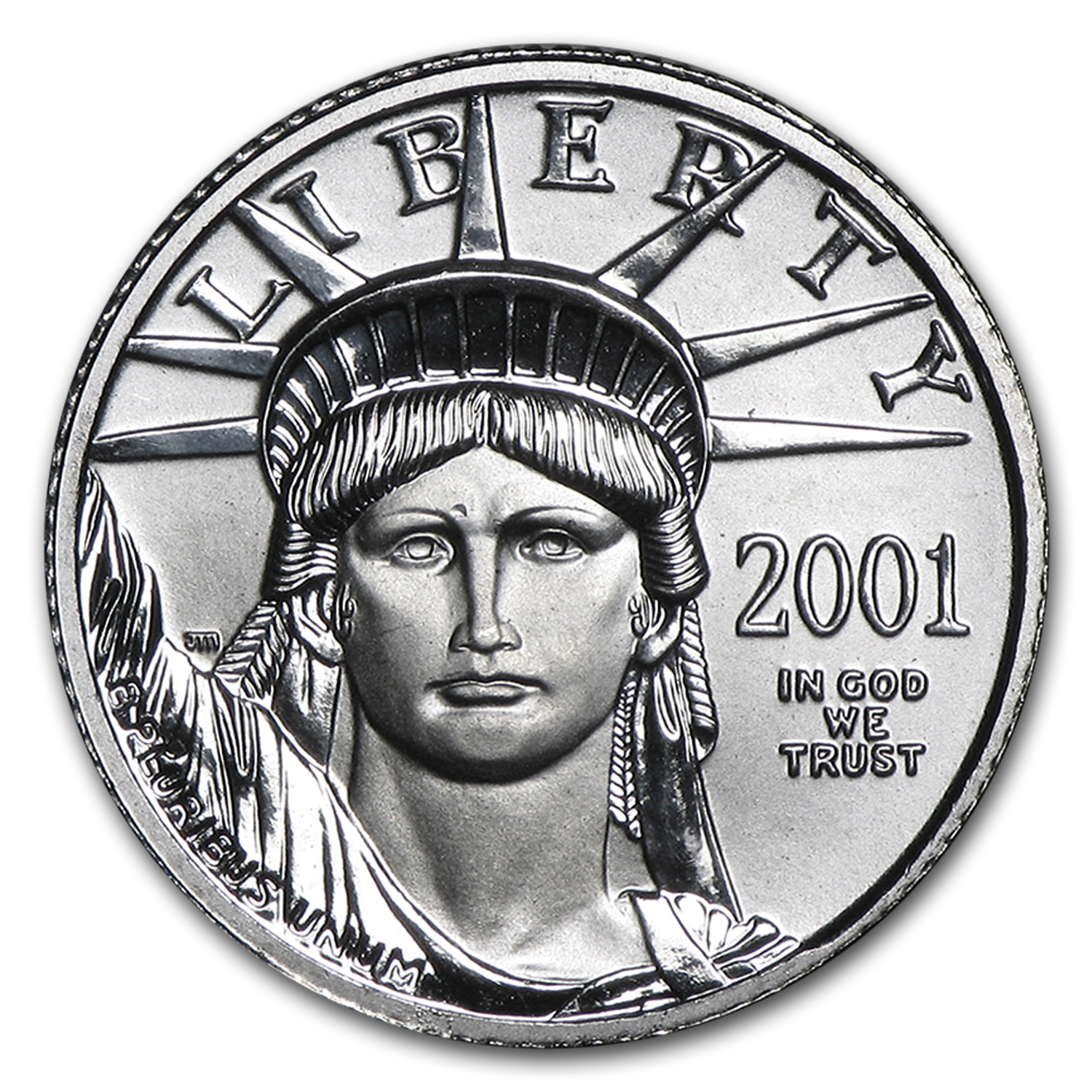 2001 1/10 oz Platinum American Eagle BU