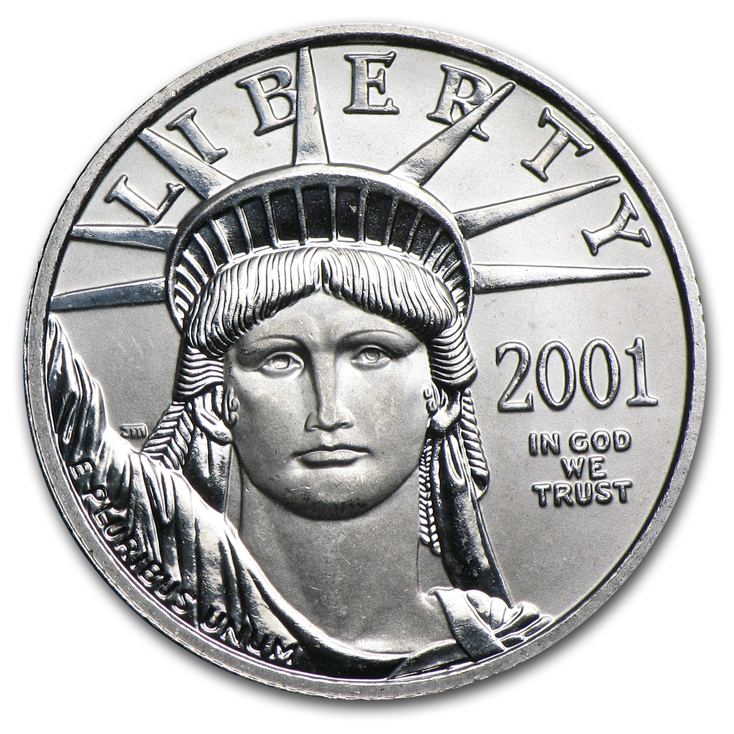 2001 1/4 oz Platinum American Eagle BU