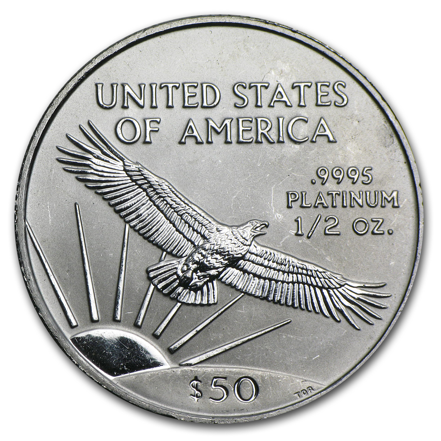 2001 1/2 oz Platinum American Eagle BU