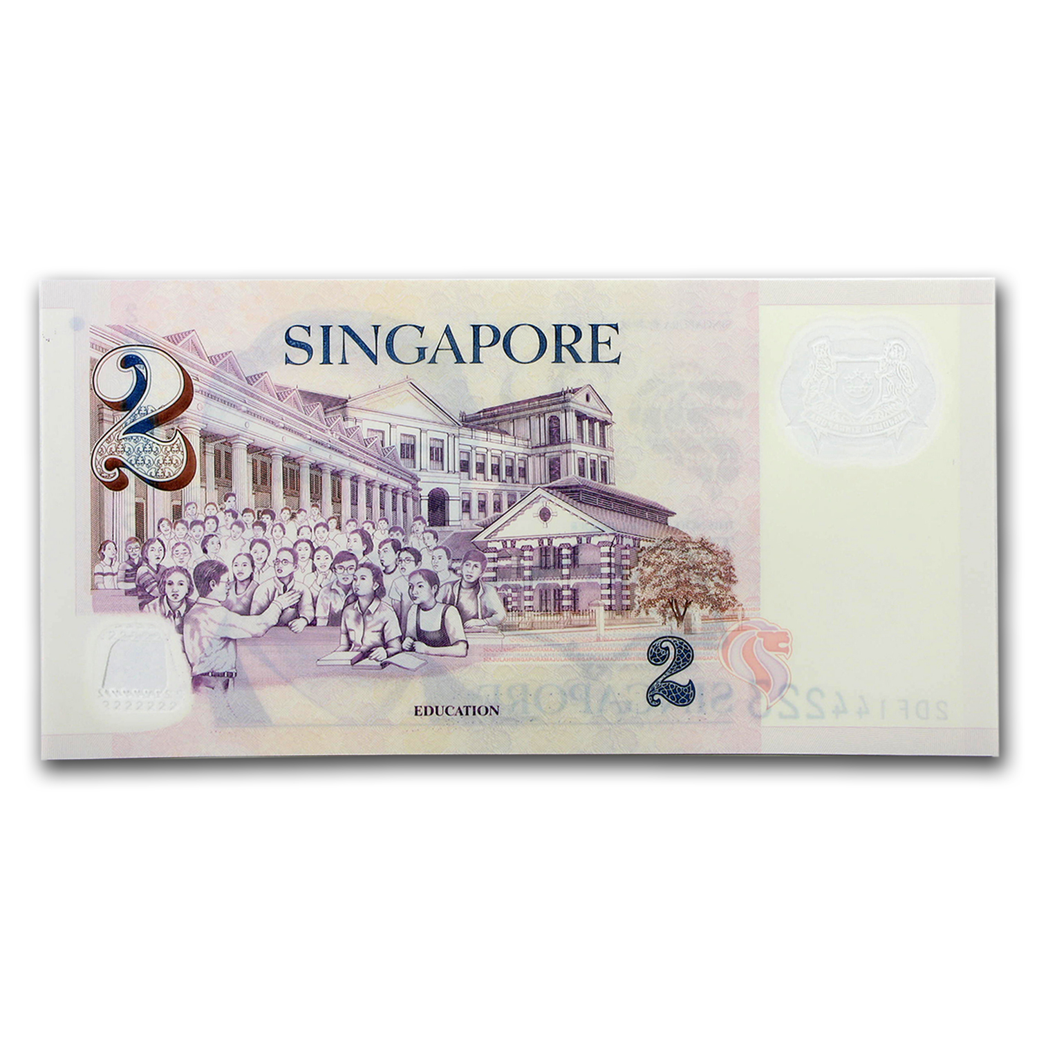 2005 Singapore $2 Polymer Education Unc P#46