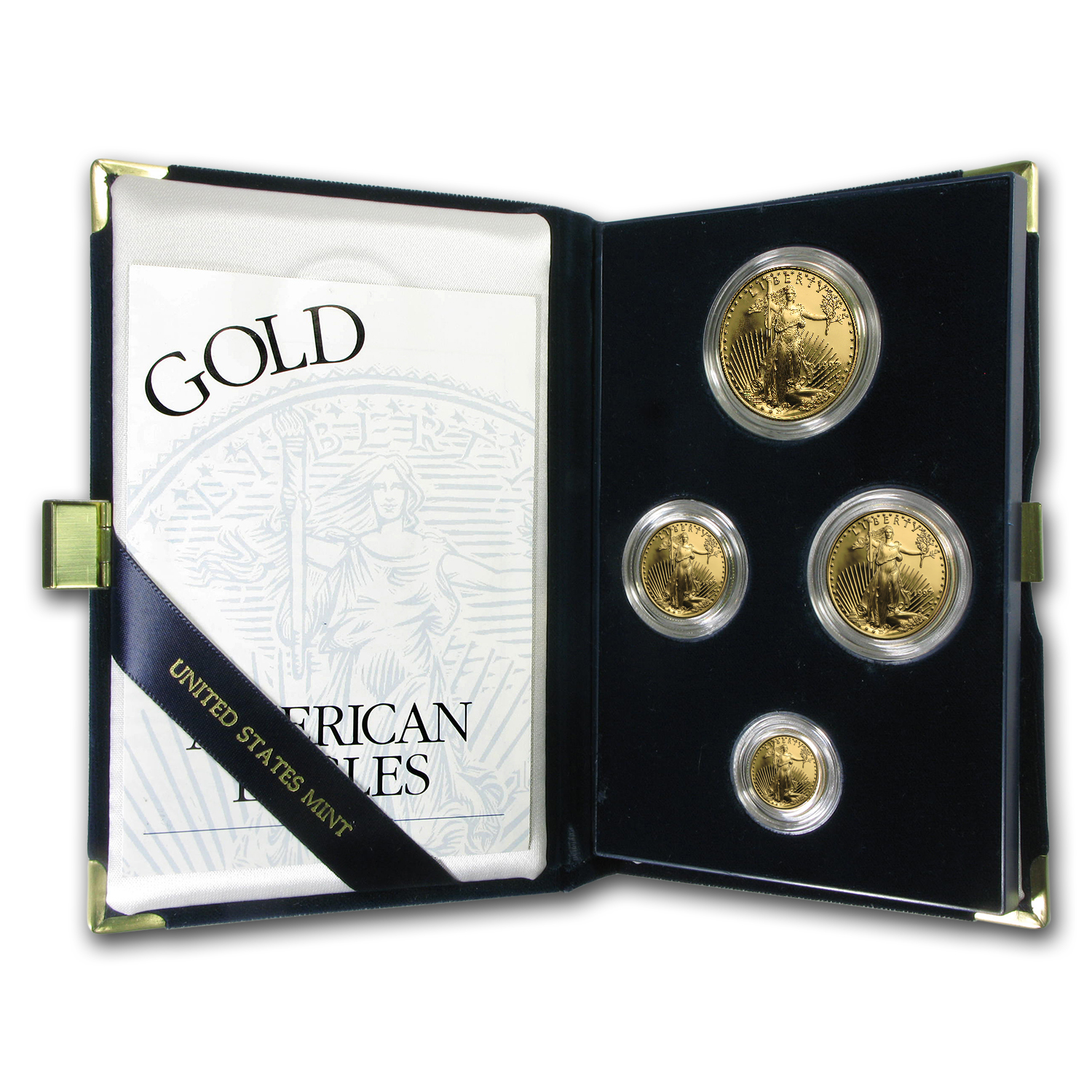 1997-W 4-Coin Proof Gold American Eagle Set (w/Box & COA)