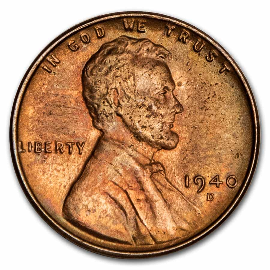 1940-D Lincoln Cent 50-Coin Roll BU