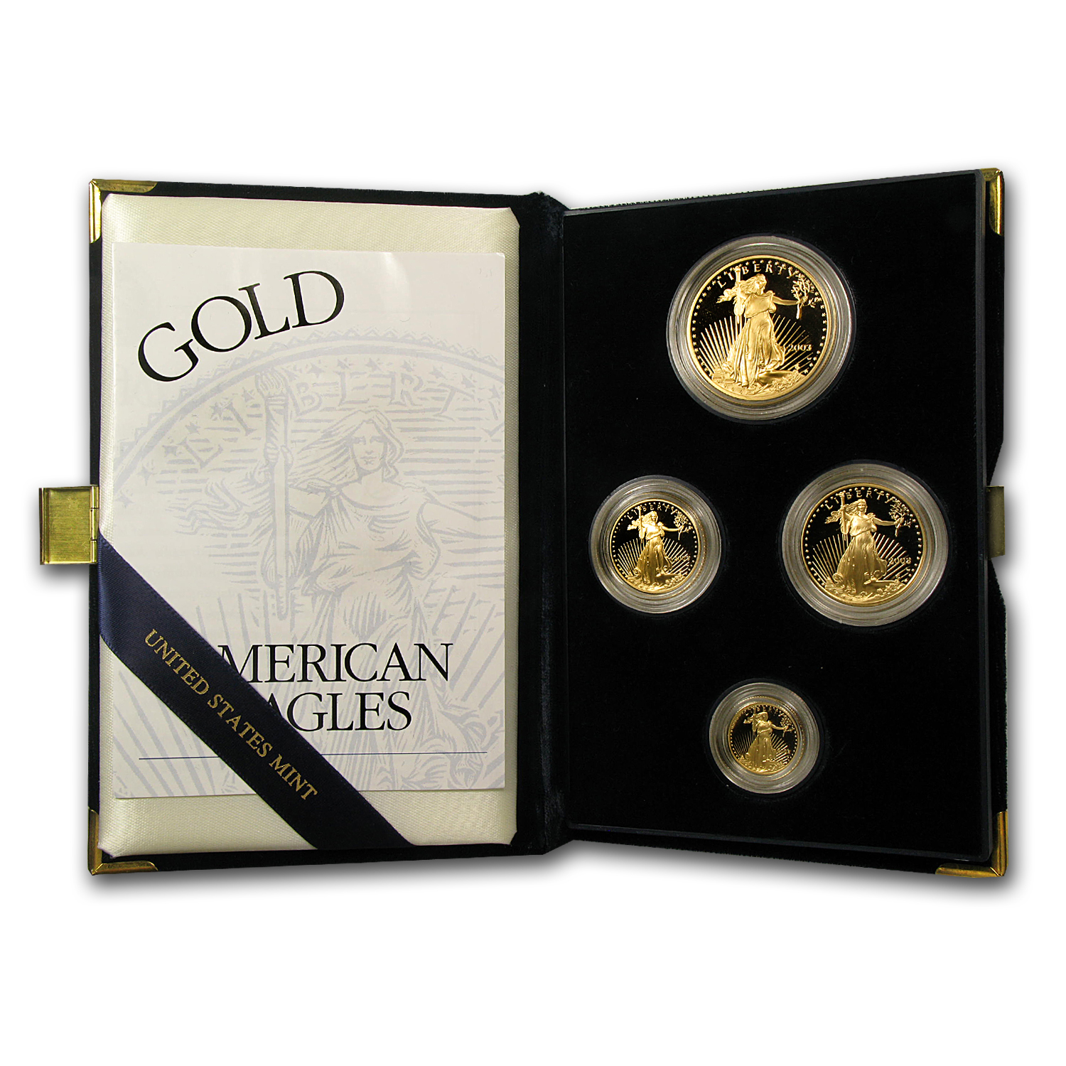 2003-W 4-Coin Proof Gold American Eagle Set (w/Box & COA)