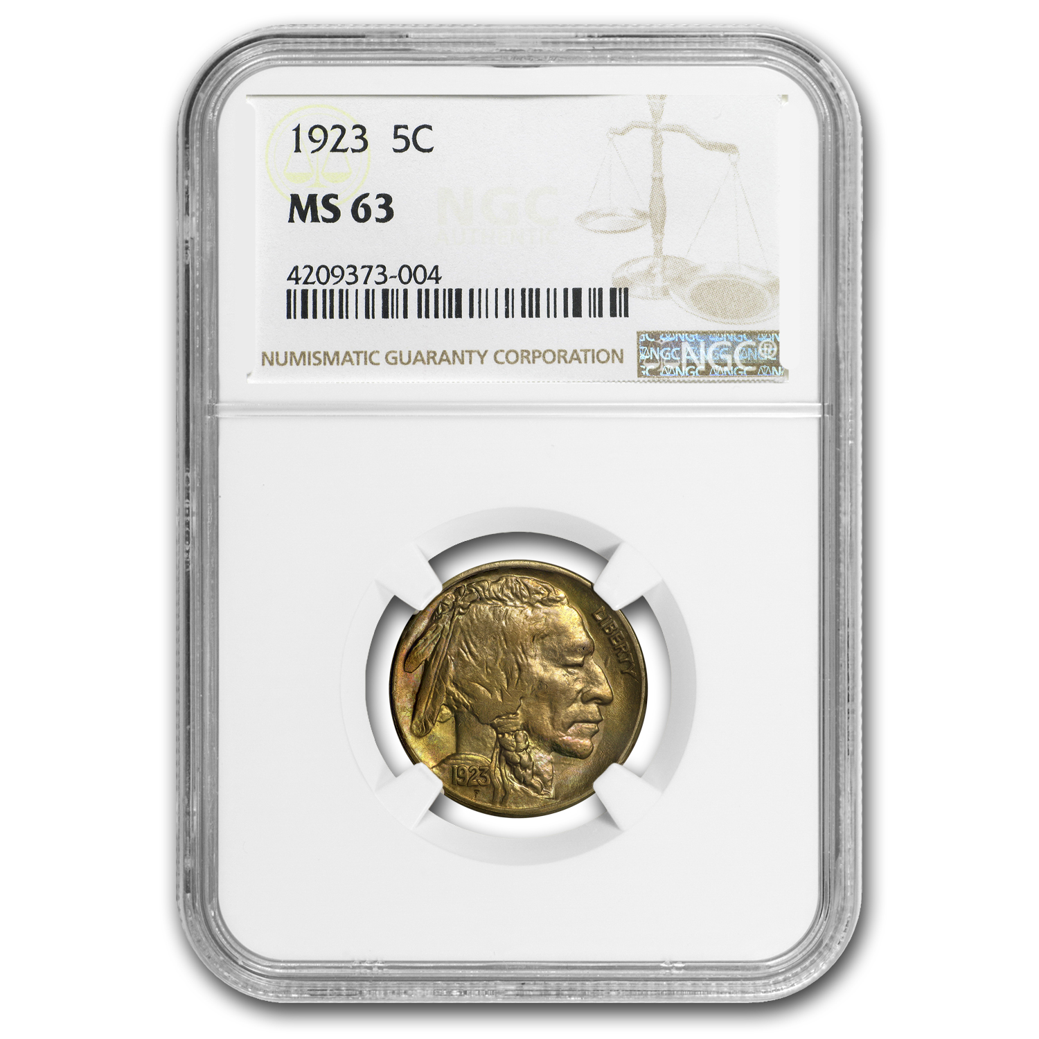 1923 Buffalo Nickel MS-63 NGC