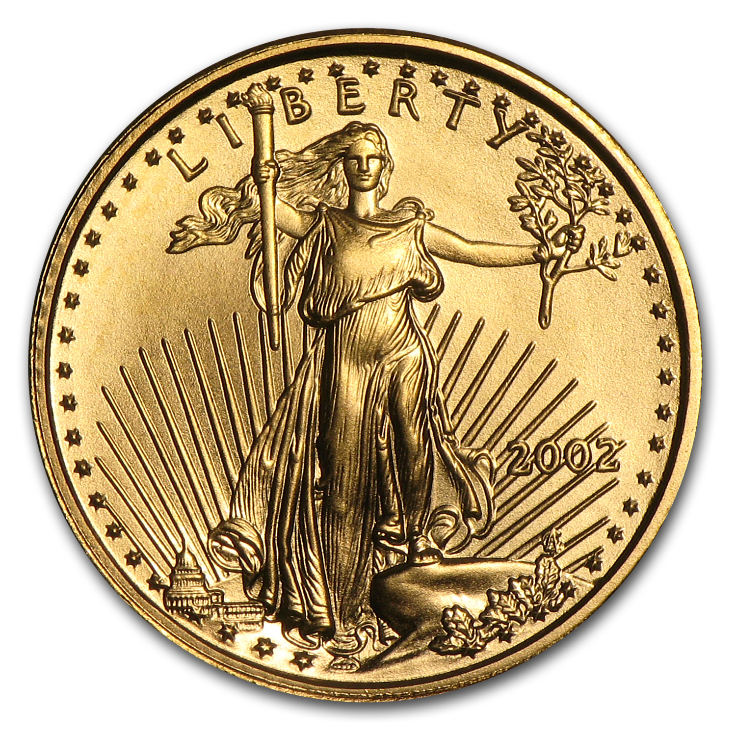 2002 1/10 oz Gold American Eagle BU