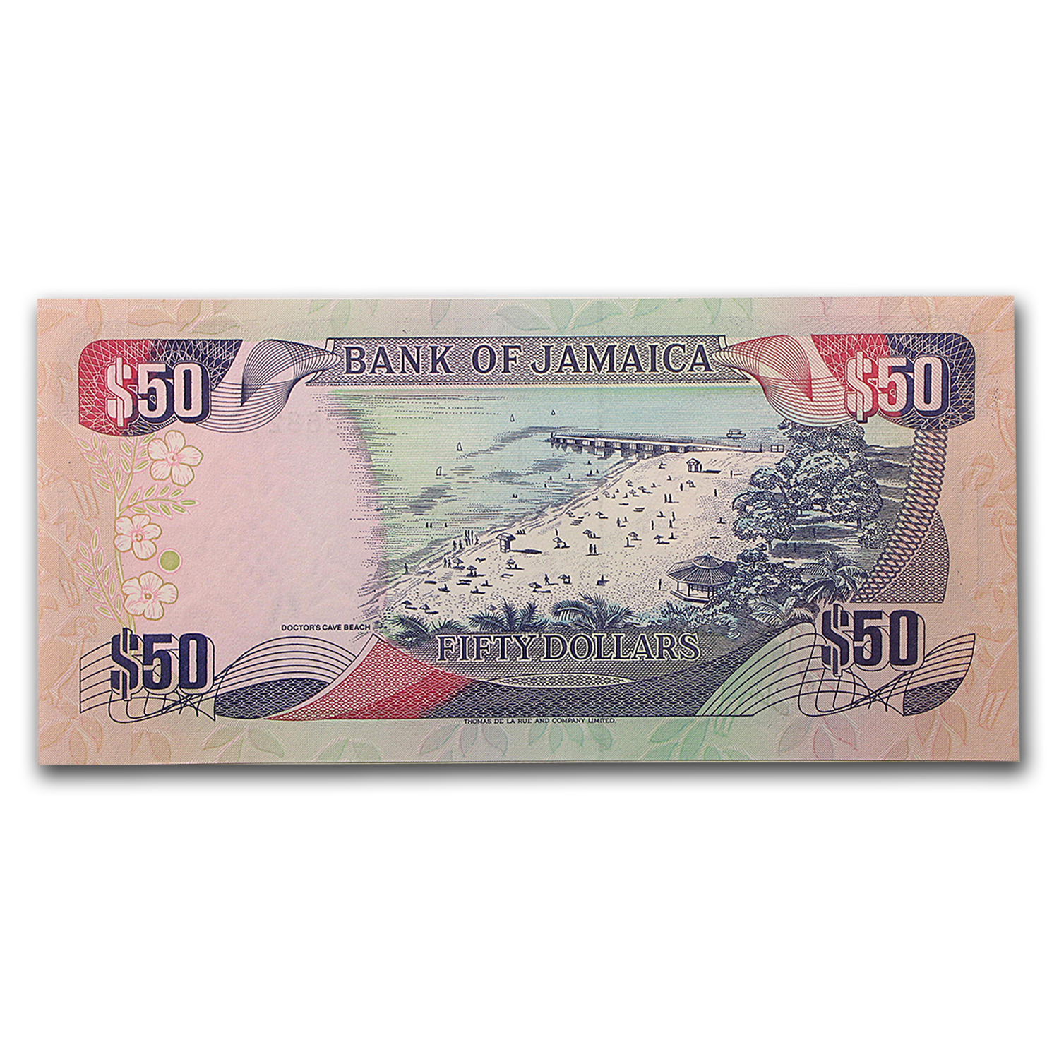 1995 Jamaica $50 Uncirculated Sharpe Beach P#73