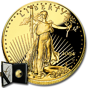 2004-W 1/2 oz Proof Gold American Eagle (w/Box & COA)