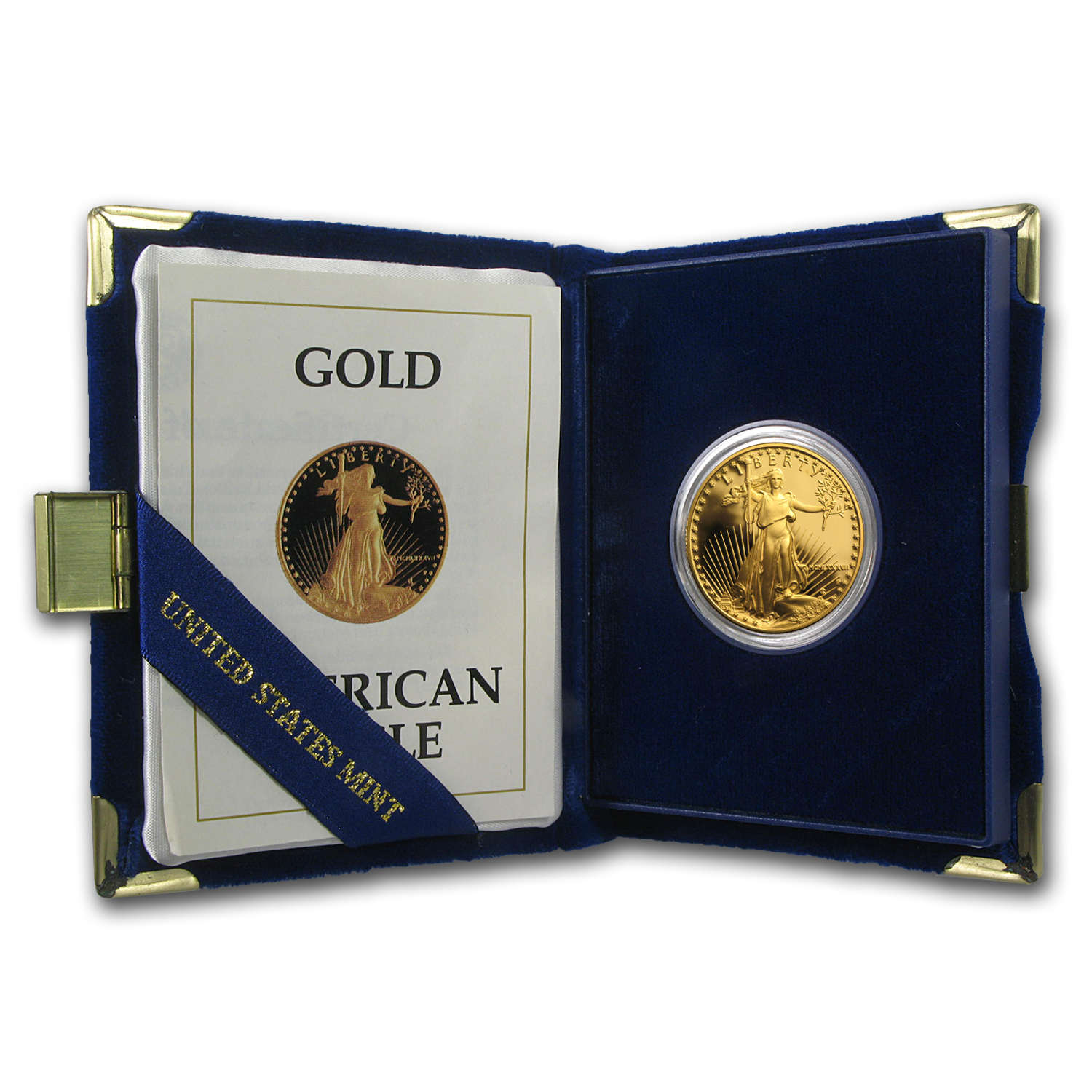 1987-P 1/2 oz Proof Gold American Eagle (w/Box & COA)