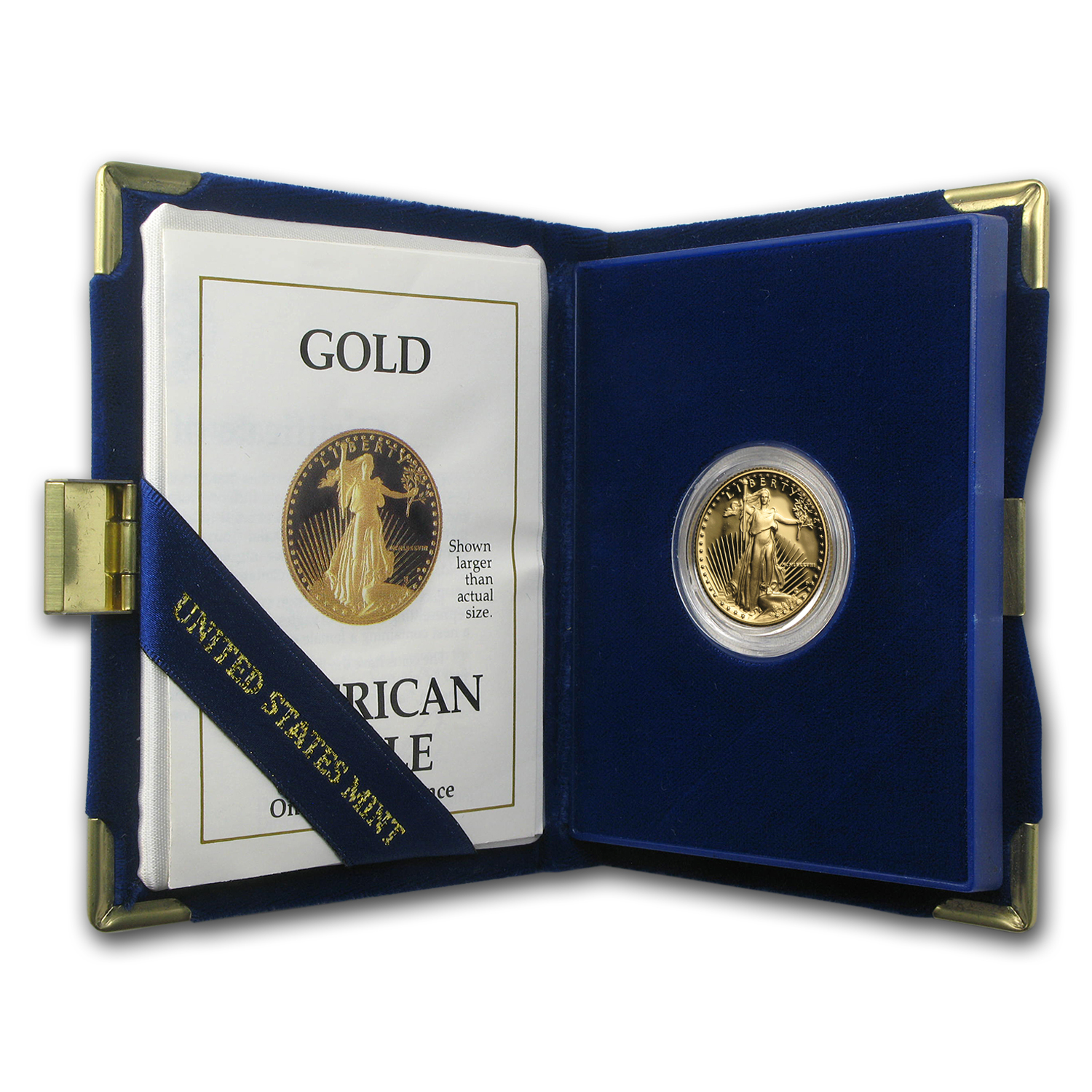 1988-P 1/4 oz Proof Gold American Eagle (w/Box & COA)