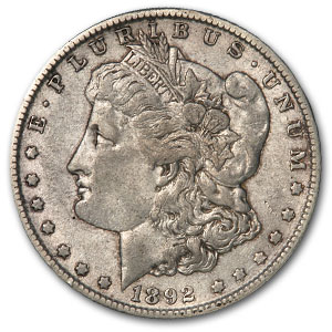 1892-O Morgan Dollar XF (VAM-5, Doubled Ear, Top-100)