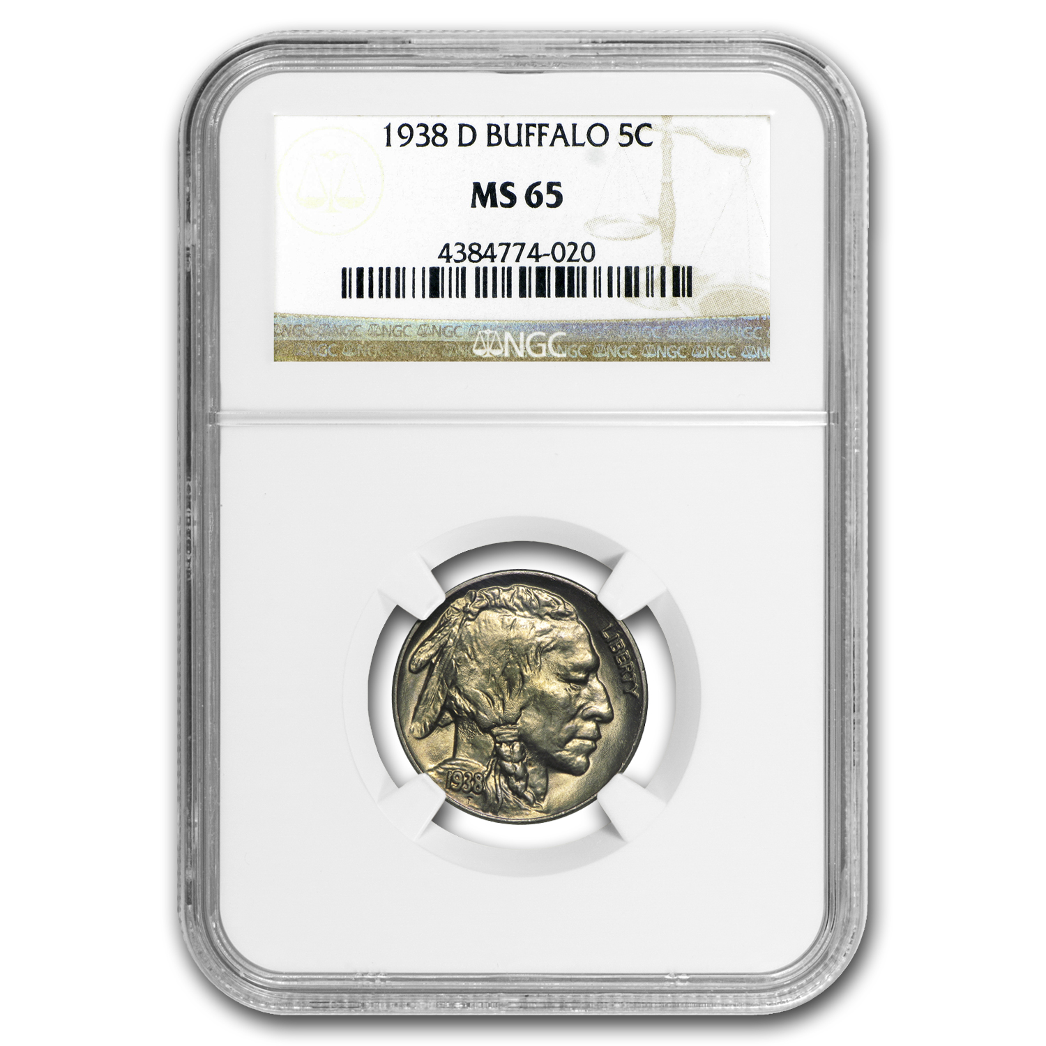 1938-D Buffalo Nickel MS-65 NGC