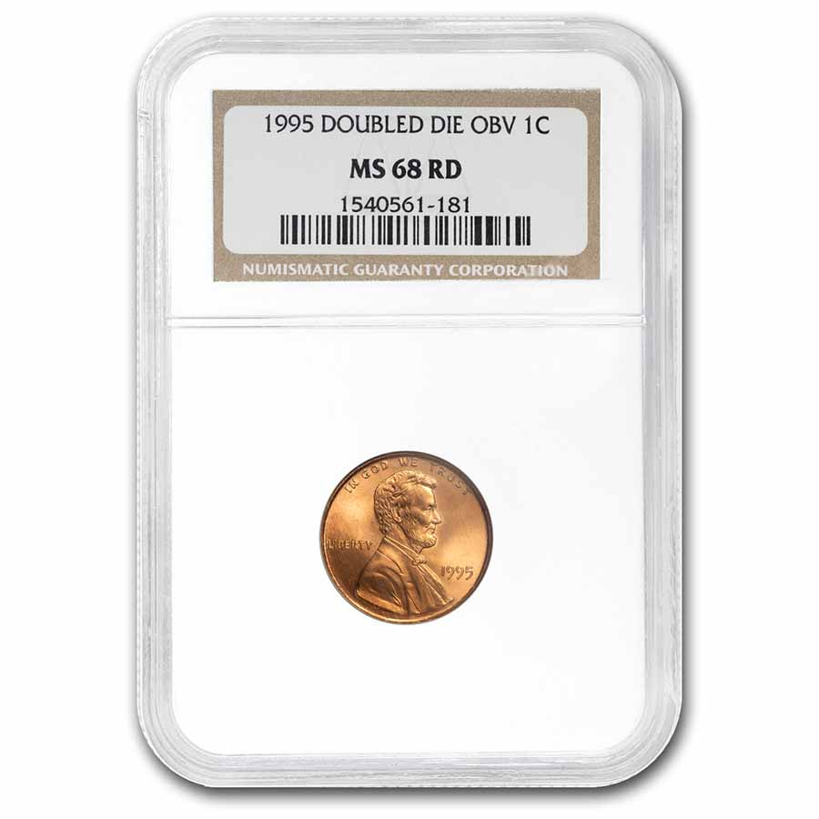 1995 Lincoln Cent Doubled Die Obv MS-68 NGC (Red)