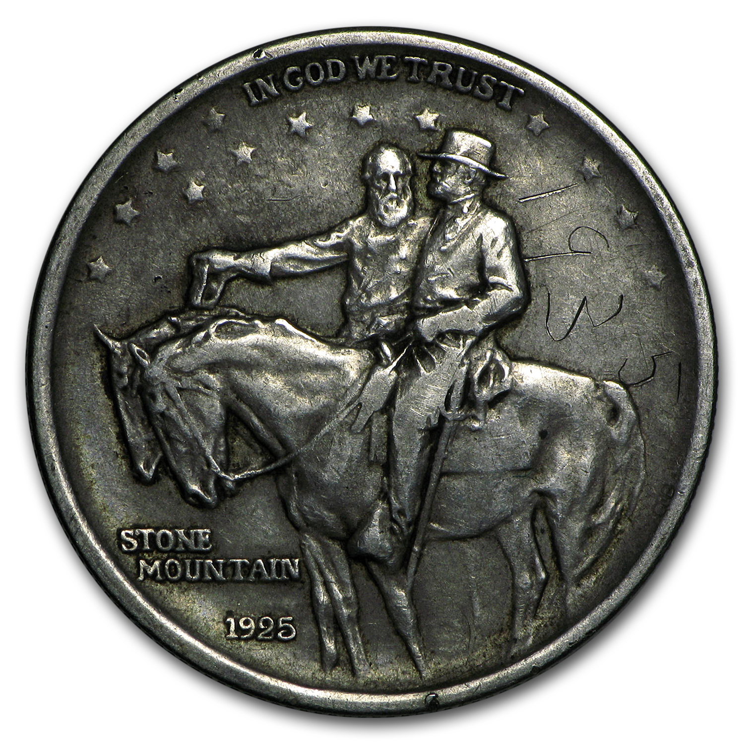 1925 Stone Mountain Half Dollar - Low Grade or Cleaned