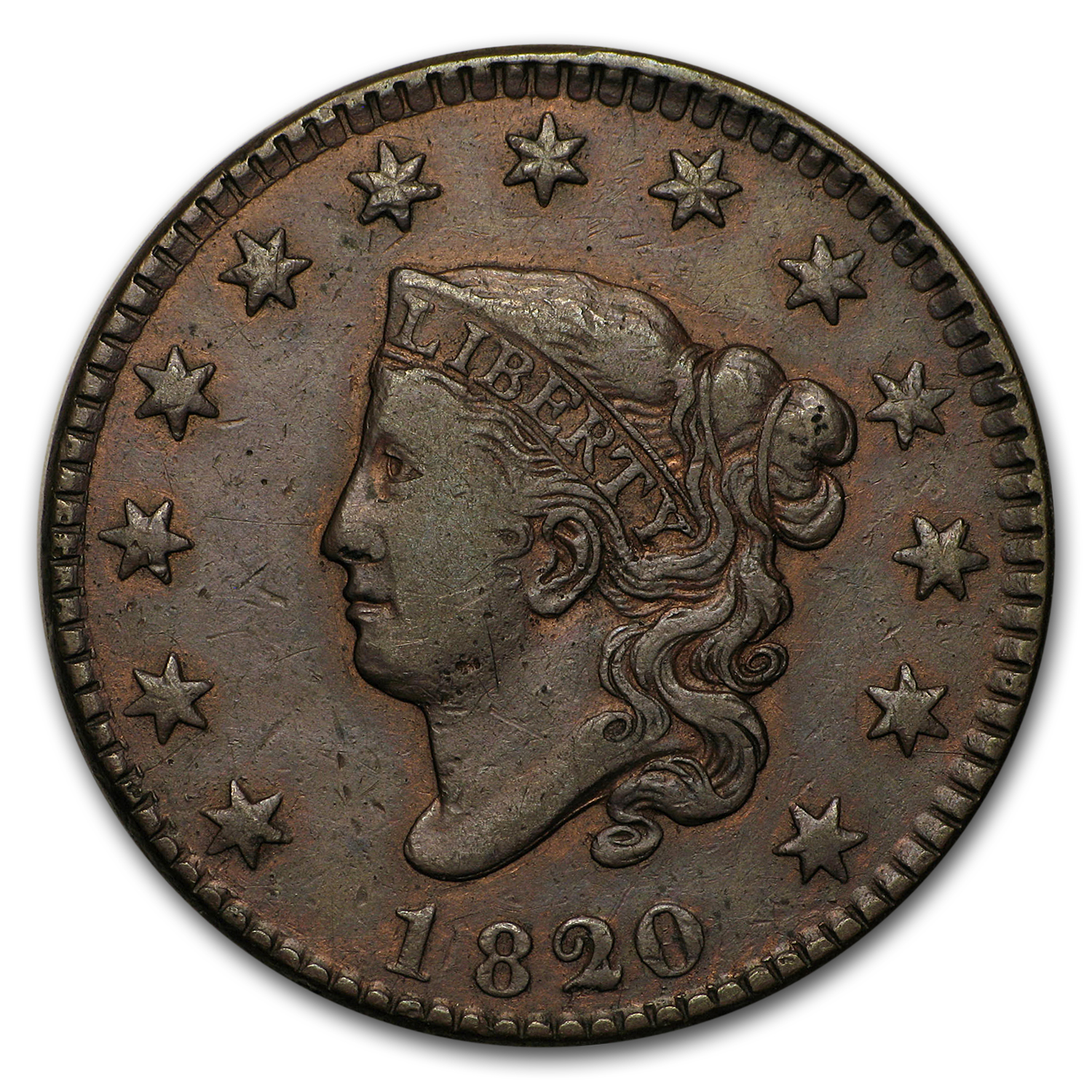 1820/19 Large Cent XF