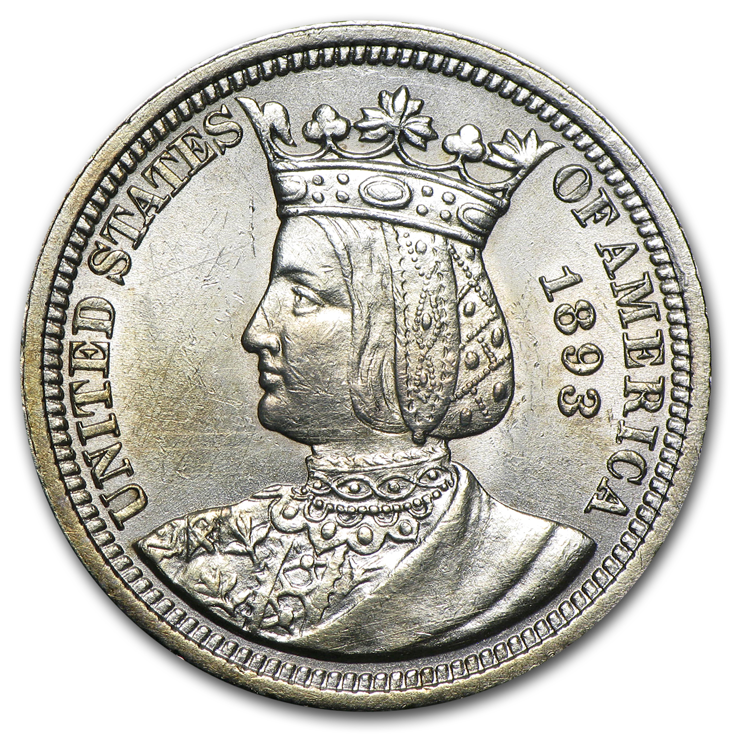 1893 Isabella Commemorative Quarter Dollar AU