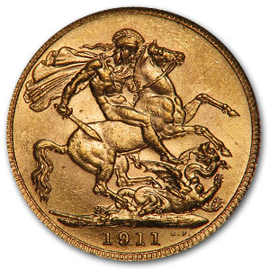 1911-C Canada Gold Sovereign MS-62 NGC