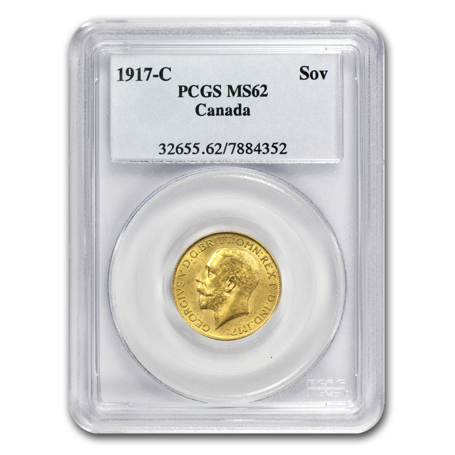 1917-C Canada Gold Sovereign MS-62 NGC/PCGS