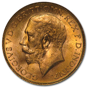 1925-1932 South African Gold Sovereign (MS-64 NGC/PCGS)