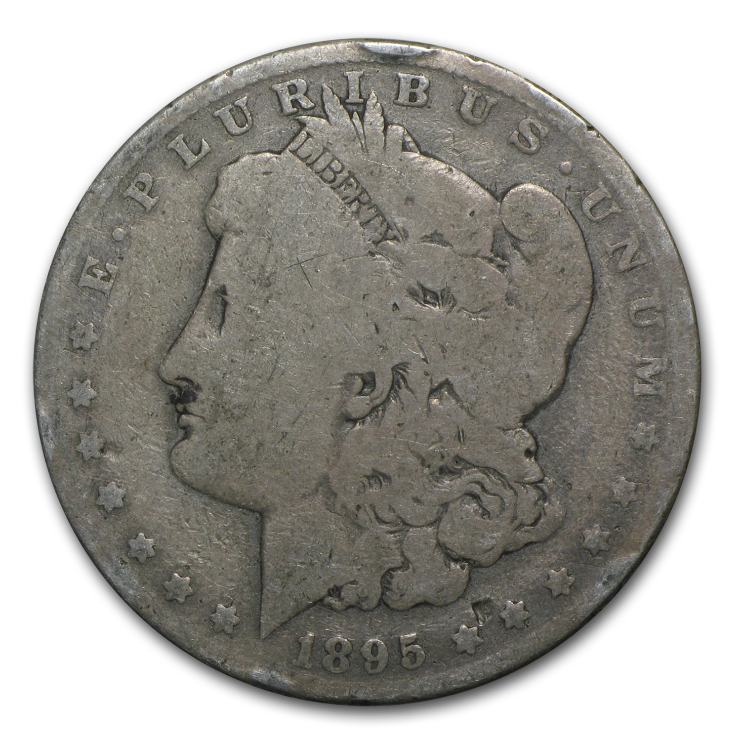 1895-O Morgan Dollar AG Rim Bumps