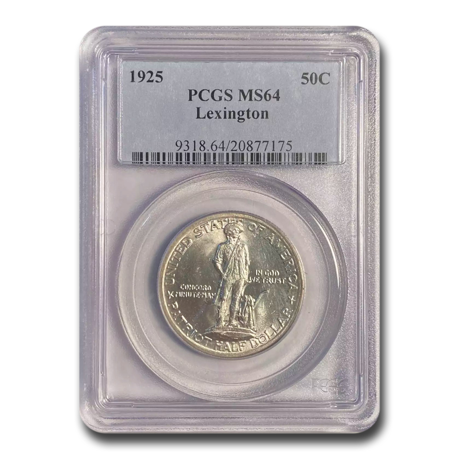 1925 Lexington Concord Sesquicentennial MS-64 PCGS