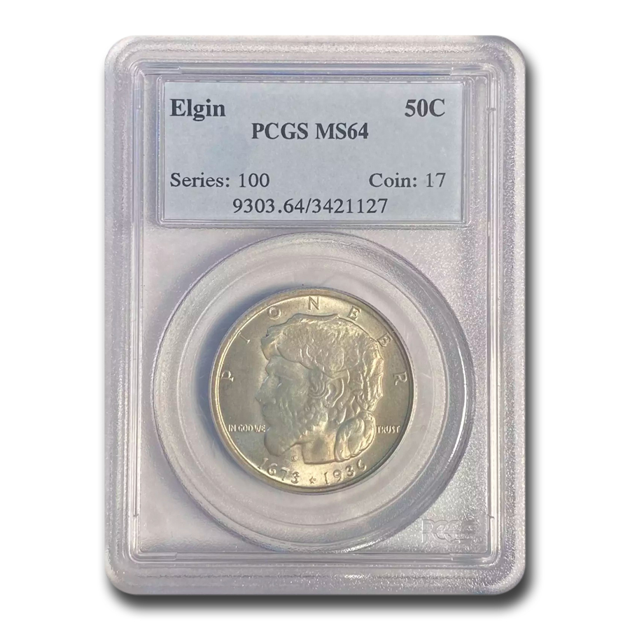 1936 Elgin Centennial Commemorative Half MS-64 PCGS