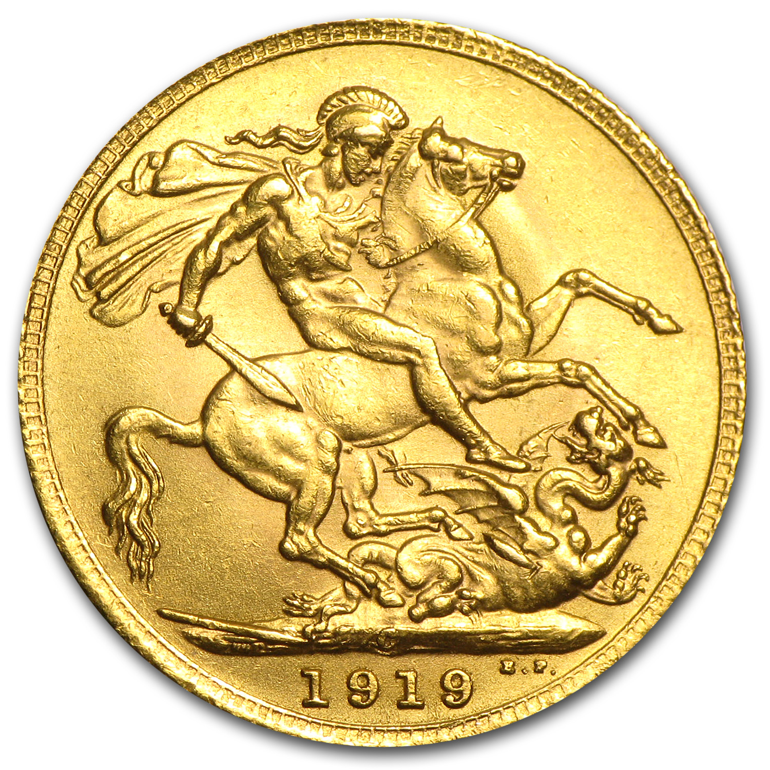 Canada 1919-C Sovereign Gold BU George V