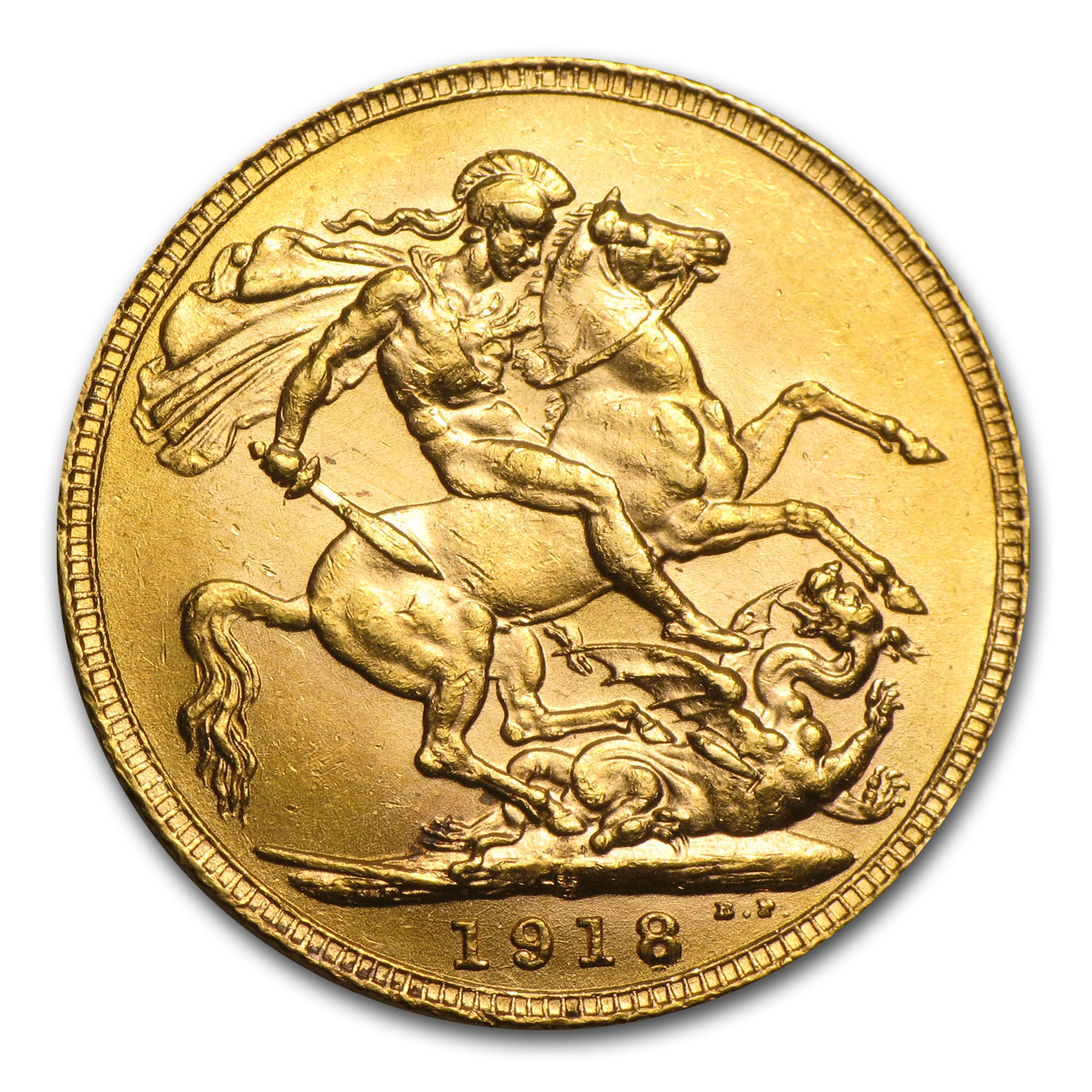 Canada 1918-C Sovereign Gold BU George V