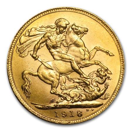1918 C Canada Gold Sovereign Bu Rcm Gold Vintage Coins