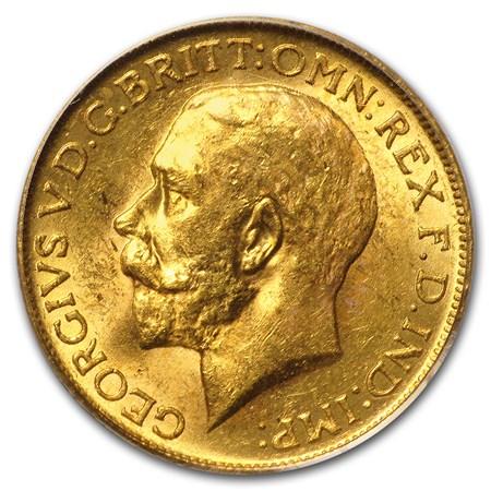 1917 C Canada Gold Sovereign Au Bu Gold Value