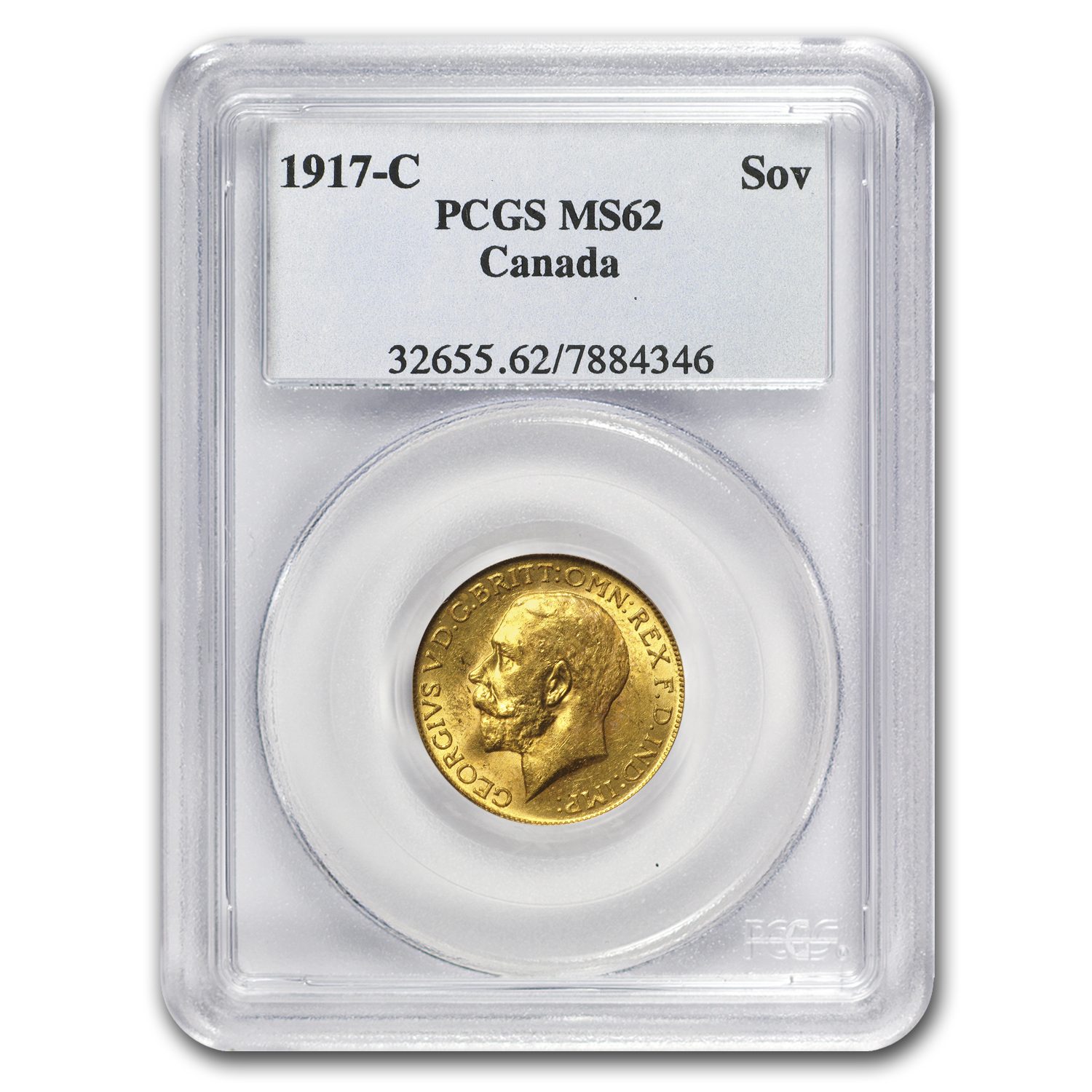 1917-C Canada Gold Sovereign AU/BU