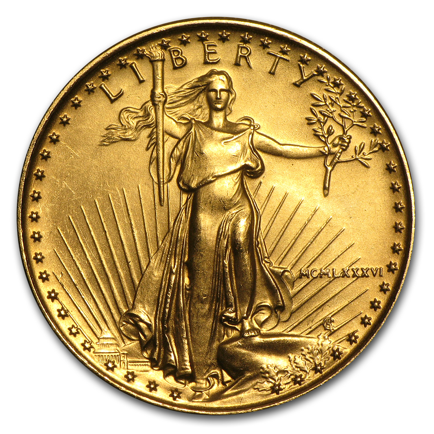 1/4 oz Gold American Eagle (Abrasions)