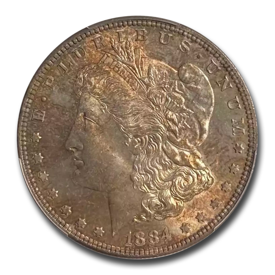 1884 Morgan Dollar MS-65 PCGS