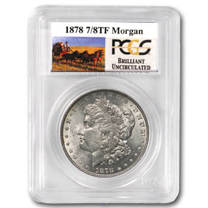 1878 7/8 TF Stage Coach Silver Dollar BU PCGS
